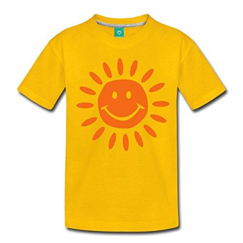Spreadshirt Sun Bright Sunshine Kids' Premium T-Shirt, Youth M, Sun Yellow (T-shirt Yellow Sunshine)