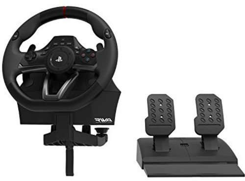 pc steering wheel with pedals - 1