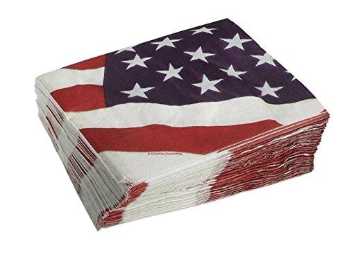 Americana American Flag使い捨てペーパーナプキン6.5-inch、50カウント   B07FRPGD7H