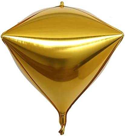 "Amazon.com: Tableclothsfactory 3 Pack 16"" Gold 4D Aluminum Foil  Self-Sealing Wholesale Diamond Shape Mylar Balloons: Home & Kitchen"