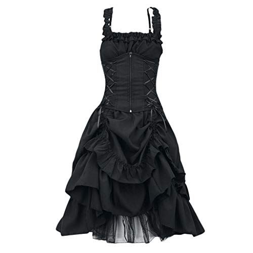 Forthery-Women Vintage Retro High Low Gothic Style