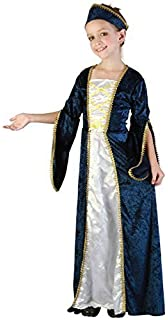 girls blue rich posh medieval tudor princess queen fancy dress costume outfit 4 12 years - Uhura Halloween Costume