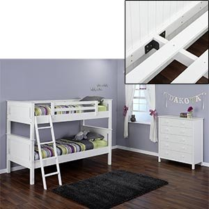 Amazon Com Dakota 2 Piece Twin Over Twin Bunk Bed Set Bunk Bed And