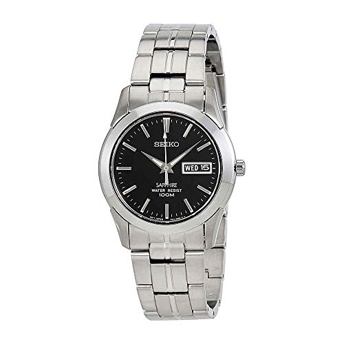 Seiko Quartz Stainless Steel Watch With Day Date - SGG715P1 (Seiko Titanium Day Date)
