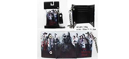 Walking Dead Group Trifold Wallet with Chain