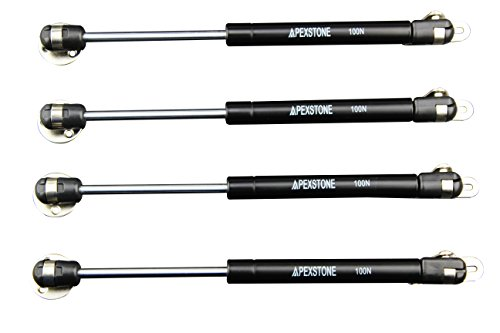 Apexstone 100N/22.5lb Gas Strut,Gas Spring,Lid Support,Lift Support,Lid Stay,Gas Props/Shocks,Set of 4 (Tool Strut Spring)