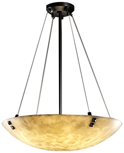 Finials Matte Clouds Black - Justice Design Group Lighting CLD-9664-35-MBLK-F3-LED6-6000 Finials 39