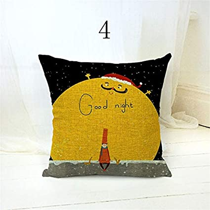 Amazon.com: Cartoon Kids Pillow Cover Good Night Moon Stars ...