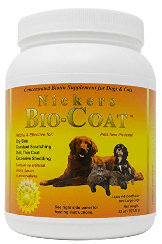 Bio-Coat Concentrated Biotin Supplement For Dogs and Cats 32 oz by Nickers