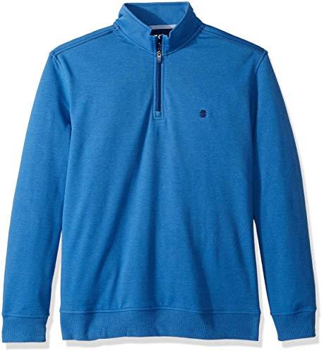 IZOD Men's Advantage Performance Quarter Zip Fleece Pullover, Bright Cobalt, X-Large ()