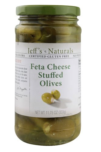 Jeff's Naturals Feta Cheese Stuffed Olives, 11.75 Ounce (Pack of 2)