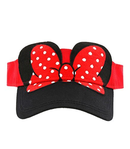Disney Parks Exclusive Minnie Mouse Bow Visor Hat Adult Size
