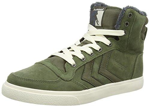 Hummel HUMMEL STADIL WINTER HI - zapatillas deportivas altas de cuero Unisex adulto verde - verde (Ivy Green 6187)