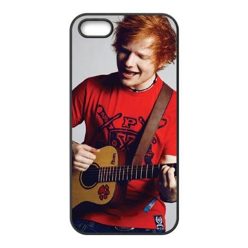 Ed Sheeran 002 2 coque iPhone 4 4S cellulaire cas coque de téléphone cas téléphone cellulaire noir couvercle EEEXLKNBC24756