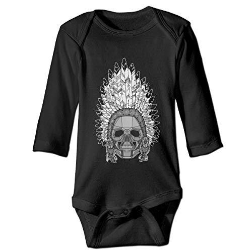 Native American Skull Baby Boys' Girls' Long-Sleeve - Skull Bone Occipital