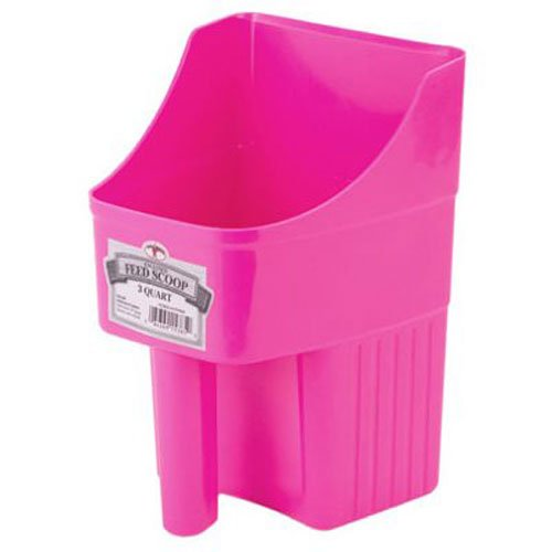 Little Giant 3-Quart Enclosed Feed Scoop, Hot Pink