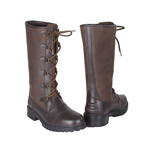 Toggi Aspen Country-Stiefel aus Leder, wasserdicht, atmungsaktiv, lässig Zartbitterschokolade