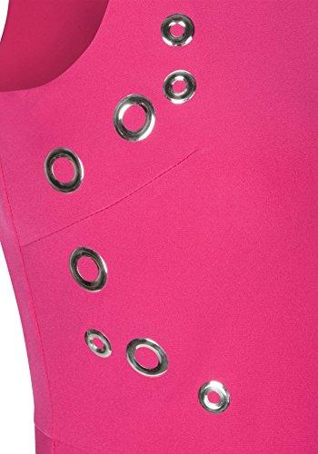 Damen Details mit Nicowa Edles changierenden Stilvoll Kleid Azalea Romy CxxrWfnqd