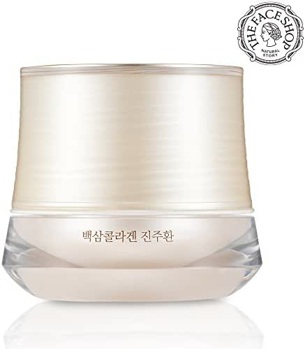 [THEFACESHOP] Yehwadam White Ginseng Collagen Pearl Capsule Cream, Premium Skin Care, Traditional Korean Herbs And Flowers Anti Aging Treatment (50mL/1.69 Oz)