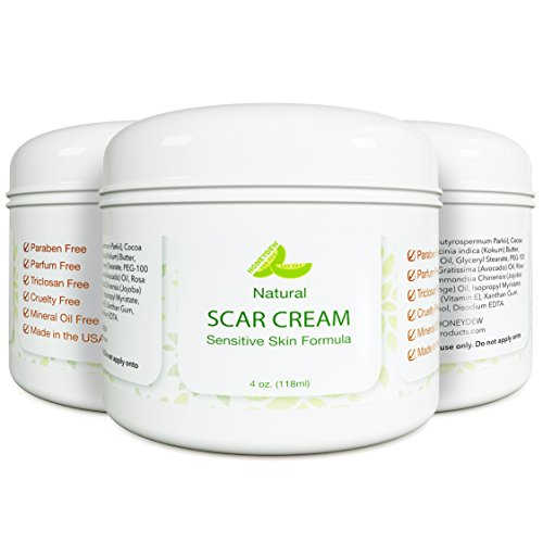 Best Scar Cream for Face - Vitamin E Oil for Skin After Surgery - Stretch Mark Remover for Men & Women - Anti Aging Lotion with SPF - Acne Scar Removal for Old Scars on Body - Scar Treatment for Cuts