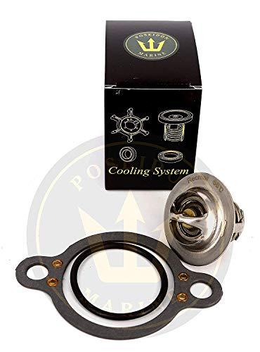 (Thermostat kit 140F for Volvo Penta V6 V8 RO: 3587597 18-3615 150ºF)