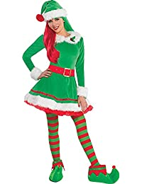 Green Elf Costume for Women, Christmas Costume, Medium, with Included Accessories