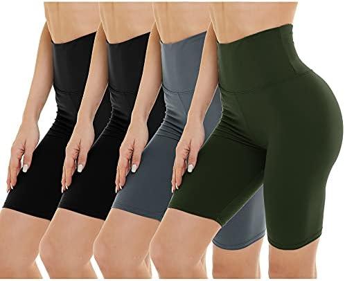 4 Pack Biker Shorts for Women – High Waist...