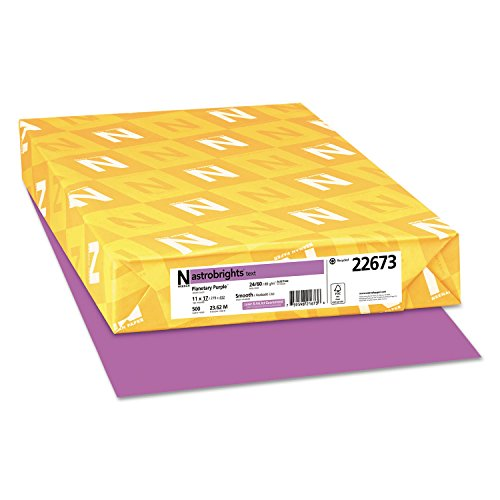 Astrobrights Colored Paper, 24lb, 11 X 17, Planetary Purple, 500 Sheets/ream
