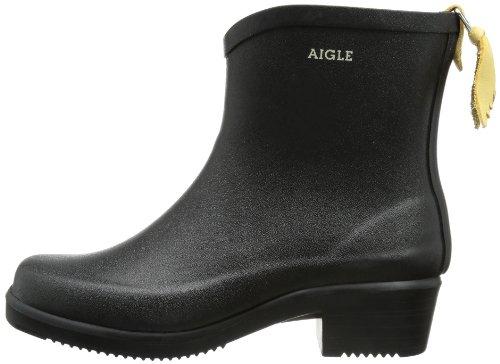 Aigle Womens Miss Juliette Bottillon Black Rubber Boots - 7 B(M) US Women