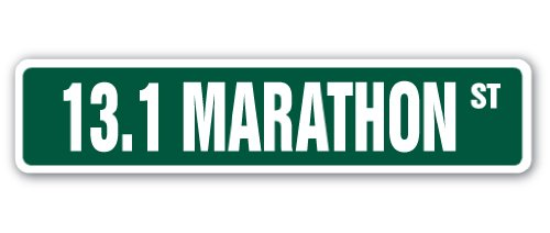 13.1 MARATHON Street Sign runner shoes jog jogging run