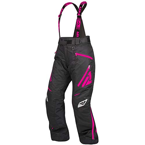 FXR Womens Vertical Pro Insulated Pant (Black/Fuchsia, Size 8) (Pants Snowmobile Fxr)