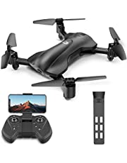 Holy Stone HS165 Faltbare GPS Drohne mit Kamera HD 5G 1080P, Quadrocopter, Helikopter Ferngesteuert mit 90° Weitwinkelobjektiv, GPS Navigation, Tap Fly, Circle Fly, Live Video, Ideal für Kinder