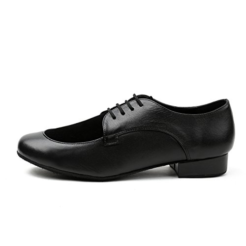 Minitoo ,  Herren Ballsaal Leather/Suede-Black