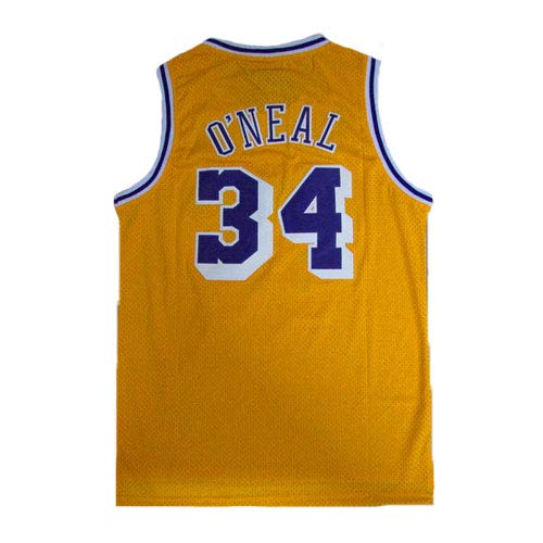 - Men's O'Neal Jersey Sports #34 Jerseys Shaquille Basketball Yellow Jersey(S-XXL) (XL)