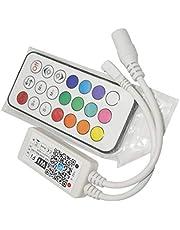 Joick Home DC5V 12V 24V Bluetooth Wireless WiFi Controller RGB/RGBW IR RF LED Controller, 21Key IR RGB WiFi 4pin
