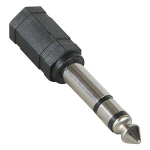 "Amazon.com: 3.5mm Stereo Jack to 1/4"" Stereo Plug Adapter black"