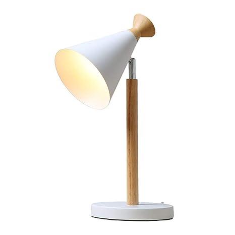 WandaElite Cálido mesa de la lámpara blanca de madera nórdica ...