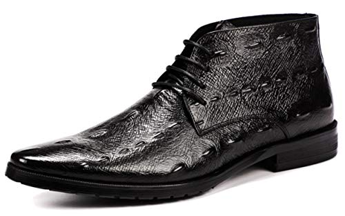 Y Encaje Black Black Zapatos Con Martin Vestir Negocios Xie De Boots Alto Cocodrilo Oxford Classic Retro 44 44 6vtwqP