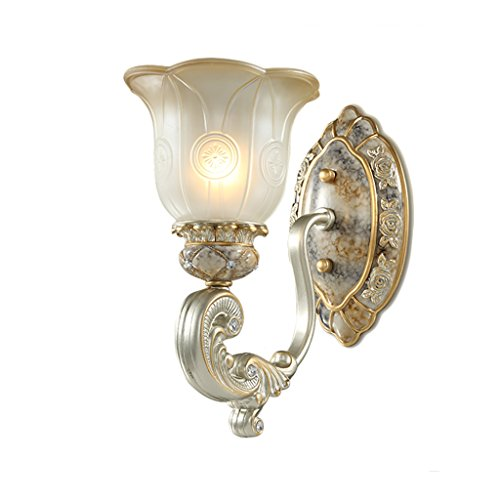 Retro Luxury Bedroom Bedside Light Creative Living Room Decoration Lights Aisle Lights Bathroom Mirrors Front Lamps Fashion Home Decorations ( Size : Single ) by Crystal
