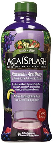 Garden Greens Acaisplash Juice Concentrate, 32 oz - Energizing Mixed Berry Drink