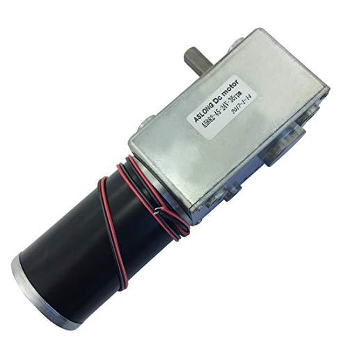 (T -king A5882-45 Worm Gear Motor DC 24V Geared Motor High Torque Low Speed Motor)