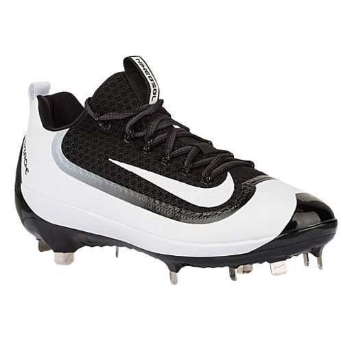 Nike Mens Air Huarache 2kfilth Elite Low Metal Cleats 9 US Black/White