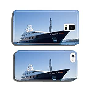 Luxury large super or mega motor yacht in the blue sea. cell phone cover case iPhone6