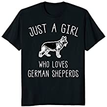 Just A Girl Who Loves German Sheperds T Shirt