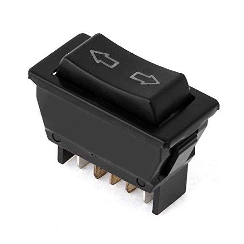 ZYHW DC 12V 20A Momentary Rocker Switch 5 Pins DPDT Automobile Car Power Window ()