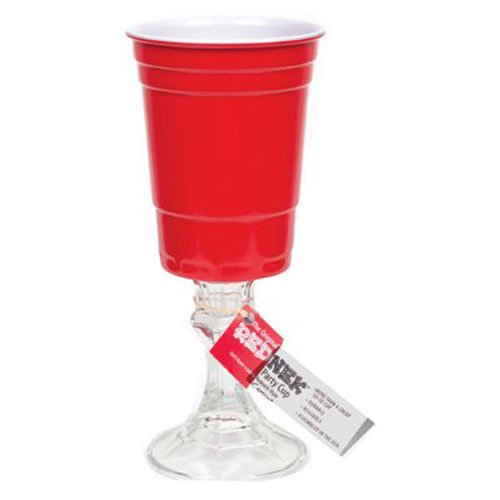 Carson Home Accents The Original RedNek 16-ounce Red Party Cup with Clear Base