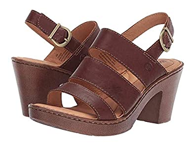 956a422d4 Amazon.com  Born Warner Brown Full Grain Leather Women s Sandals  Shoes