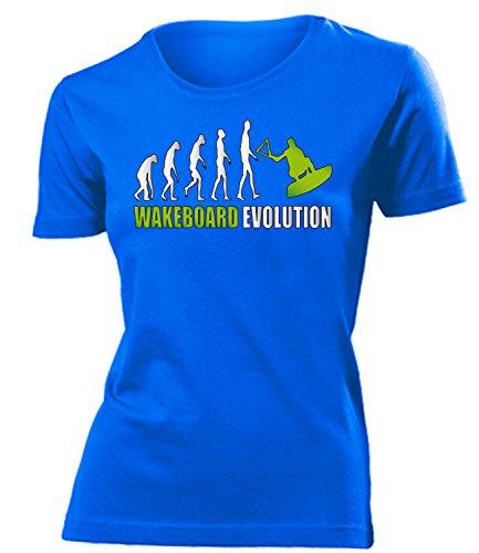 WASSERSPORT - WAKEBOARD EVOLUTION - mujer camiseta Tamaño S to XXL varios colores Azul / verde