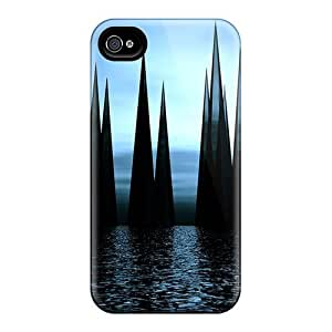 Iphone 4/4s Case Cover - Slim Fit Tpu Protector Shock Absorbent Case (ocean Crystals)