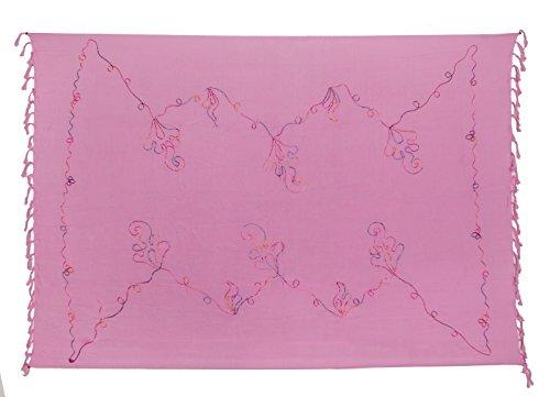 Kascha Trading - Camisola - para mujer Bunte Stickerei Rosa